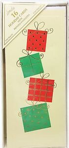 Christmas-Presents-Holiday-Cards-with-Gold-Star-Printed-Envelopes-16-count