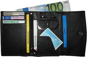 Leder-Schluesseletui-RING-Schwarz-mit-RFID-Schluesseltasche-mit-Geldboersenfunktion