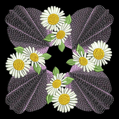 FLOWER SWIRLS - 30 MACHINE EMBROIDERY DESIGNS (AZEB)