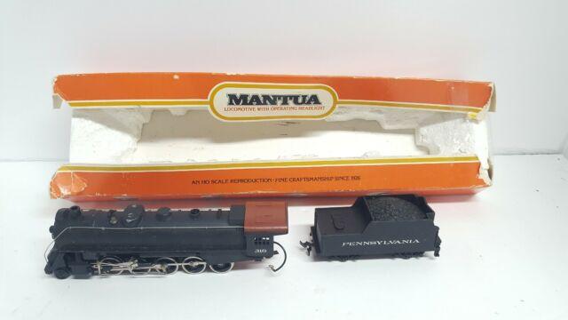 Vintage Mantua HO Scale 312-20 Mikado Pennsylvania 2-8-2 Locomotive & Tender