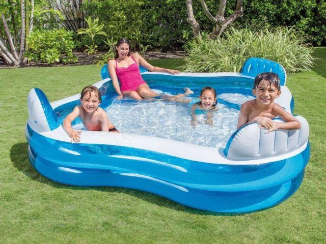 Intex piscina gonfiabile 4 sedili porta bevande nuoto famiglia 56475 Nuovo Rotex