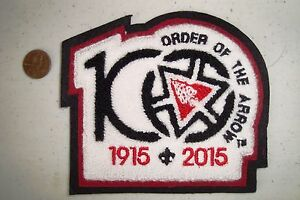 OA-PATCH-BLACK-BRDR-CENTENNIAL-100TH-ANNIVERSARY-2015-NOAC-CHENILLE-JACKET-FLAP