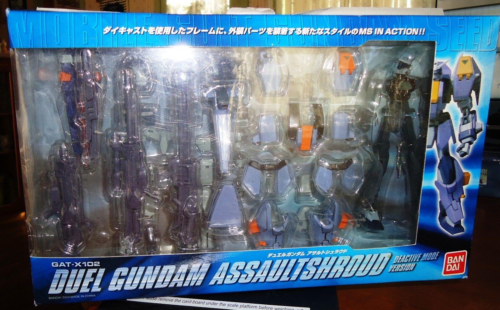 BANDAI 2003 GAT-X102 Duel Gundam SEED Action Figure Deactive Mode Version - NIB