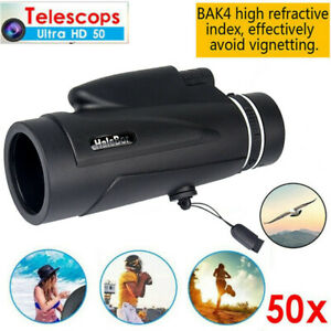 New-50x60-Monocular-Outdoor-Optics-Zoom-Lens-Camping-Hiking-BAK4-Telescope-Scope