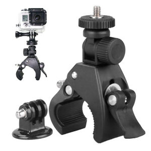 Bike Holder Handlebar Mount + Tripod Adapter For Go pro Xiao yi 4k DLSR Camera T