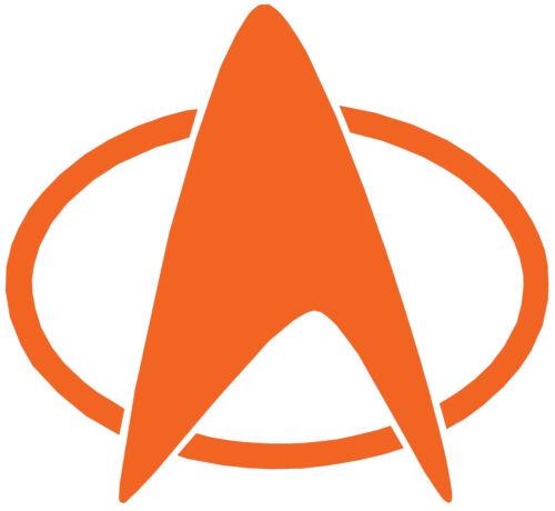 Placa Insignia De Star Trek Vinilo Autoadhesivo Con Coche Furgoneta portátil Tablet Pared