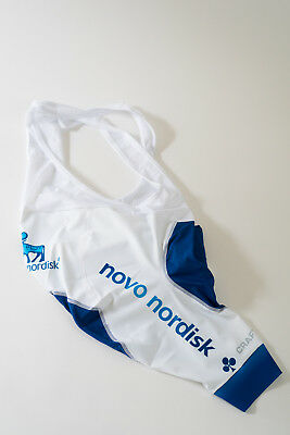 Size Small New Men/'s 2017 Craft Team Novo Nordisk EBC Cycling Bib Shorts White