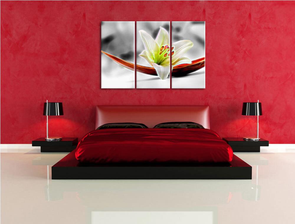 Artística Loto 3-Teiler Foto en Lienzo Pa Decoración de Pa Lienzo rojo  Impresión Artística 29a358