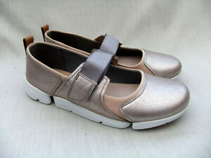 17766968e87e NEW CLARKS TRIGENIC TRI LIBRA WOMENS SILVER COMBI LEATHER SHOES SIZE ...