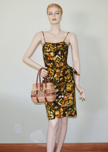 VINTAGE 1950s HAWAIIAN PINUP DRESS STAN HICKS HAWA