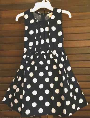 NWT Girls White//Black Navy//White Dot Summer Event Party Like Moms Dress SZ 2-7