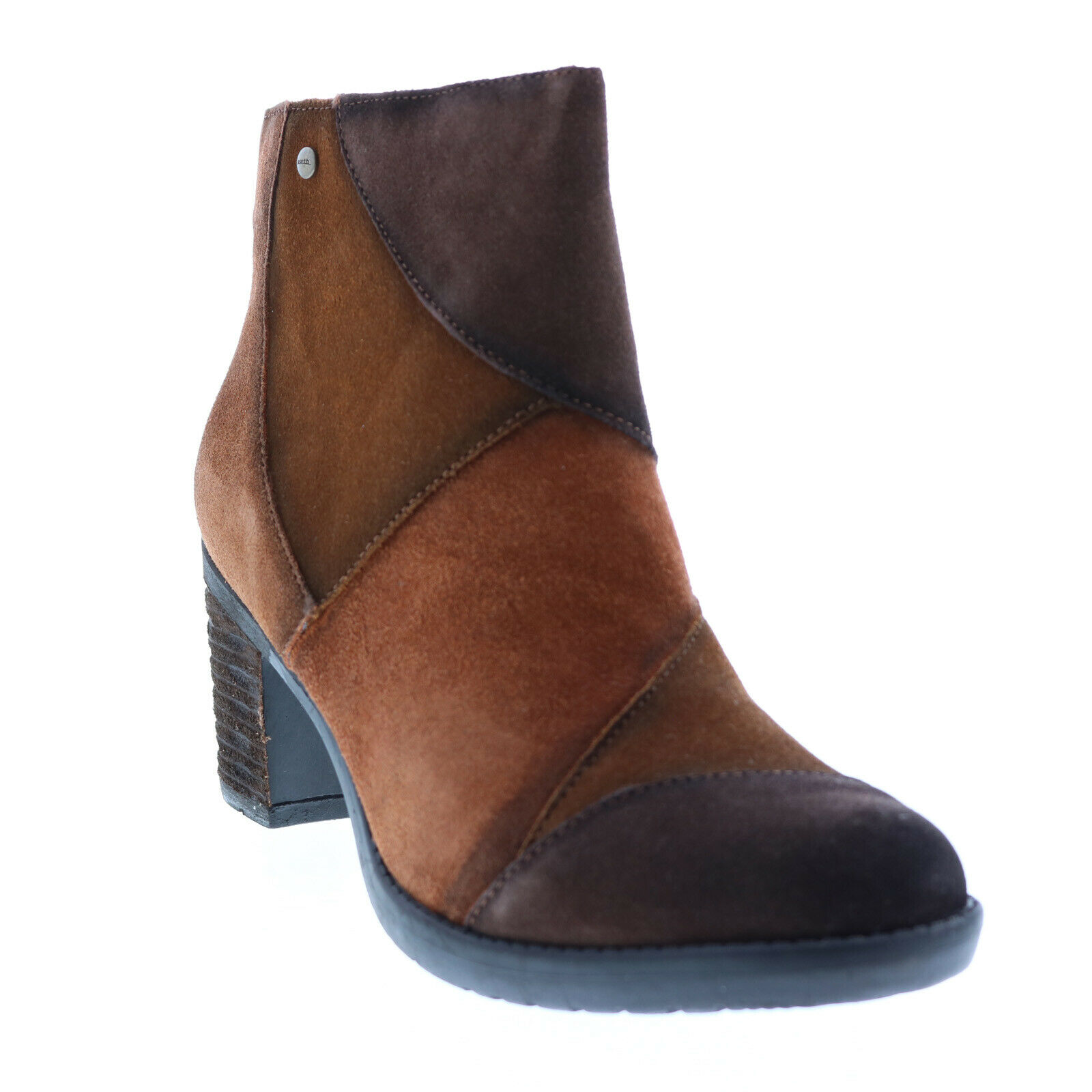 Earth Malta Multi Short Womens Brown Suede Zipper Ankle & Booties Boots 9.5
