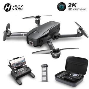 Holy Stone HS720 GPS Drone 2K HD Camera Foldable brushless battery FPV + Case