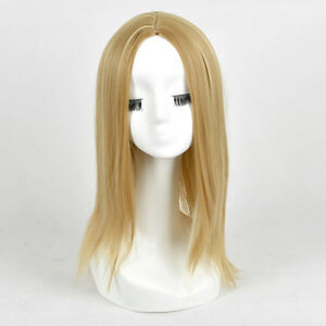 Blonde-Mixed-color-Highlights-Medium-Length-middle-Parting-Long-Wig-WIGS