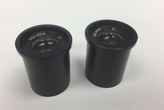 Meiji MA503 Super Widefield 15X Eyepieces with 25mm Diameter Reticle Mounts