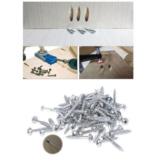 100x hochfeste selbstschneidende Schrauben für Pocket Hole Jig