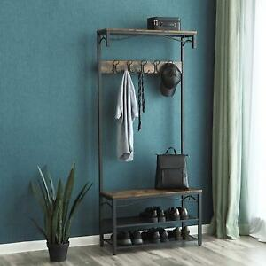 Admirable Details About Industrial Coat Rack Stand Bench Furniture Storage Shoe Shelves Vintage Hallway Creativecarmelina Interior Chair Design Creativecarmelinacom