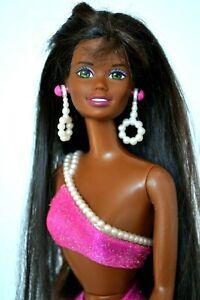 Perle-Plage-Christie-Barbie-Poupee-1990s-Vintage-Parfait-Original-Accessoires