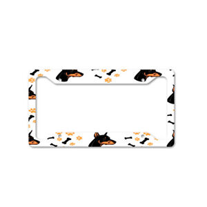 Doberman Pinscher Dog Breed Auto Car License Plate Frame