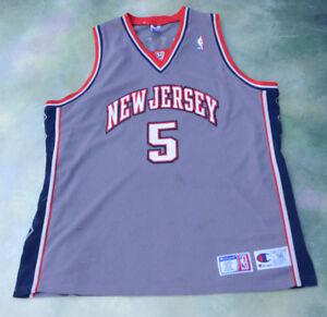 RARE Vintage Champion NBA New Jersey Nets Jason Kidd  5 Jersey Size ... 37b70883c