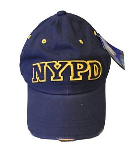 97af7833a Details about NYPD BASEBALL HAT BALL CAP NAVY GOLD NEW YORK POLICE  DEPARTMENT COPS MENS