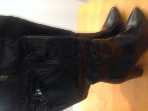 Boots Black Croc party per Nuovo 5 Bnib Size High regalo Knee Mock 38 Ladies 5q61wTgp