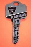 Great Gift Idea NFL OAKLAND RAIDERS KWIKSET KW1, KW10, KW11 UNCUT KEY BLANK