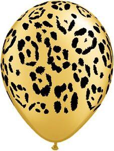 Qualatex-Leopard-Print-28cm-Latex-Balloons-Safari-Party-Event-Decoration