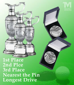 Details about GOLF DAY SOCIETY TROPHY PACK OF 5x TROPHIES / MEDALS *FREE  ENGRAVING* SAVE £££