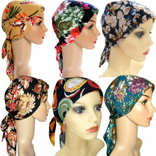 HEAD SCARVES HEADWEAR FOR HAIR LOSS CHEMO WITH ENCLOSED PADDING /& COMFORTABLE