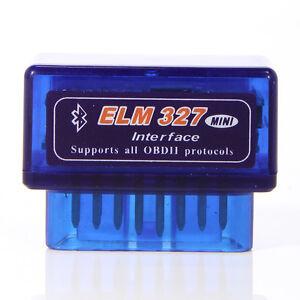 Mini-ELM327-Bluetooth-OBD2-OBD-II-Diagnosegeraet-Testgeraet-Interface-Scanner