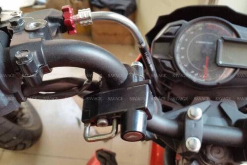"Motorcycle Helmet Lock Holder 7//8/"" 22mm For Harley YAMAHA KTM HONDA BMW Kawasaki"