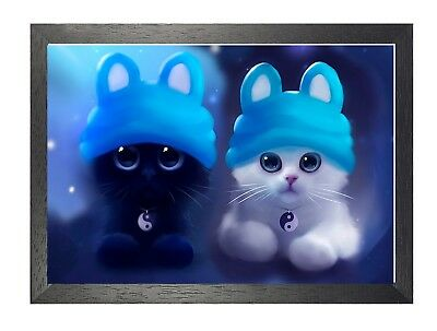 Cat 4 Kitten Cute Cats Animals Pets Sweet Lovely Adorable Cartoon Poster Picture Ebay