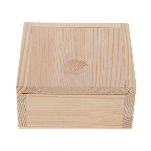 Wooden Storage Case Wood Tea Storage Box Organizer For Jewelry Craft Beads