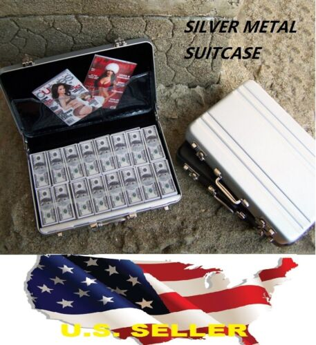 "1//6 Silver Metal Suitcase gun Cash Box for 12/"" Barbie Hot toys Phicen Kumik USA"