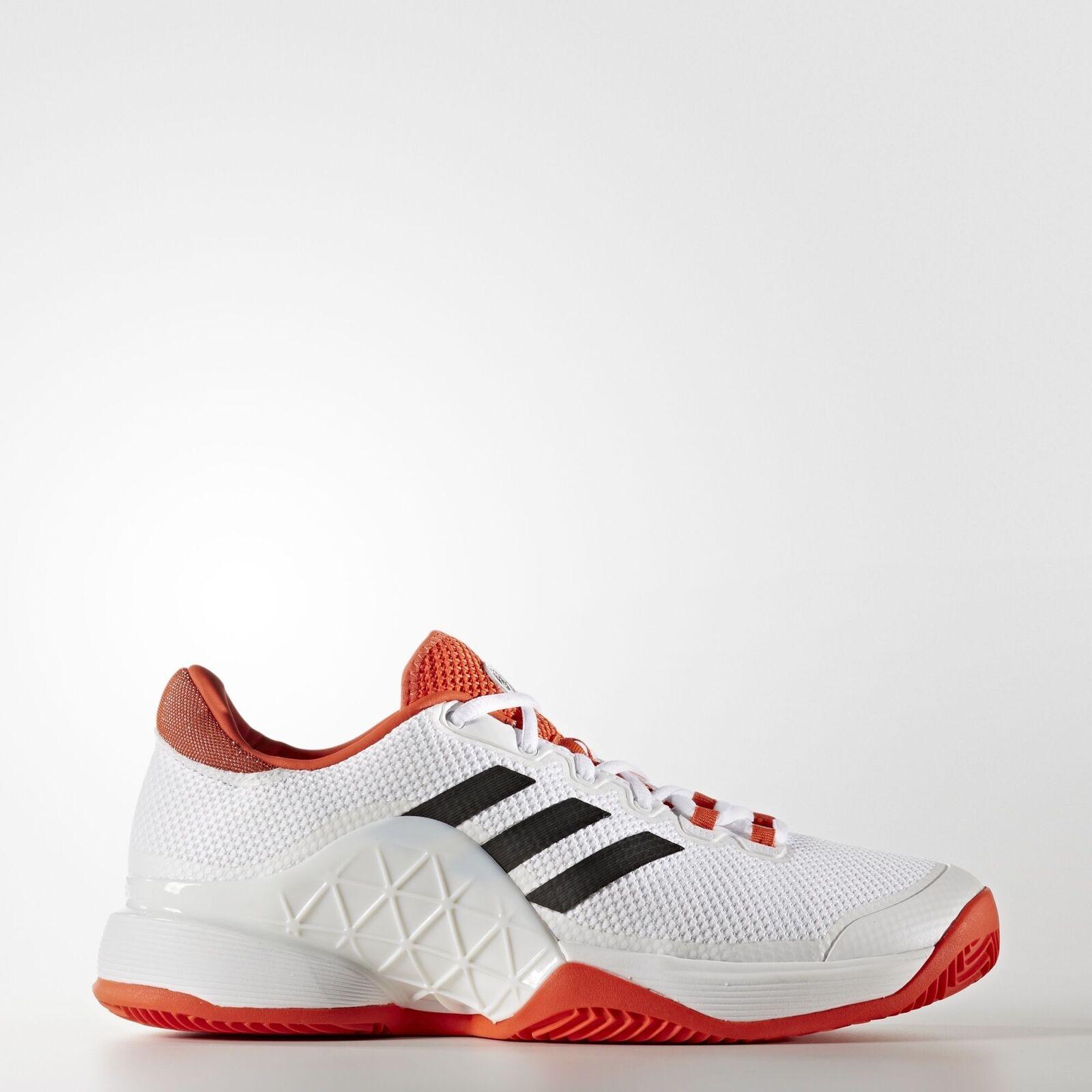 Adidas Roland Garros Barricade 2017 Clay Court Tennis shoes Sz 13.5 Novak White