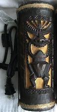 "Hawaiian 9"" Ambient Light Lamp Tiki Bar Poly Resin Home Office Decor NIB"
