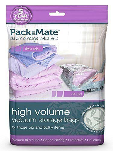Packmate Volume Vacuum Compressed Space Saver Storage Bags L//XL//J Sizes