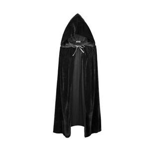 Femmes-Velours-Cape-Hood-Halloween-Robe-Medievale-Cosplay-Costume-Mantea-FE