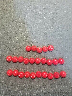286A5443PR5 Red Lot Of 25 General Electric ET-16 Lens Caps FREE SHIPPING!