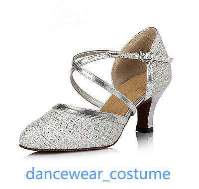 Latein Modern Tanzschuhe Damen Partei Ballsaal Tango Salsa Tanzen Schuhe 2Farben