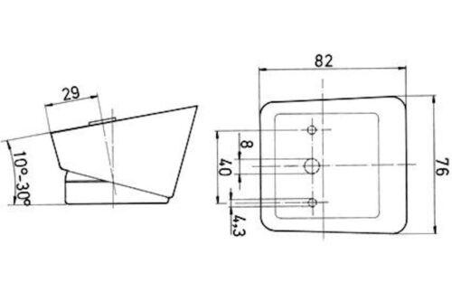 2 x Jokon Aufbau Begrenzungsleuchte weiss mit Rückstrahler PLR550 12V Anhänger