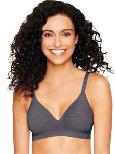 756285b0a4 NWT Hanes Platinum Perfect Coverage Wireless T-Shirt Bra HP08 Gray ...