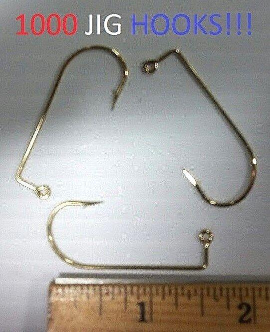 1000 Eagle Claw 4/0 90o 90o 90o Reg-Shank Gold Aberdeen Jig Hooks (575M-4/0) EB090204 a3ced2