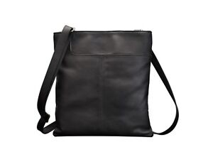 Real-Leather-Shoulder-Soft-Ladies-Gents-Cross-Body-Bag-Black-Brown-Red-Women-New