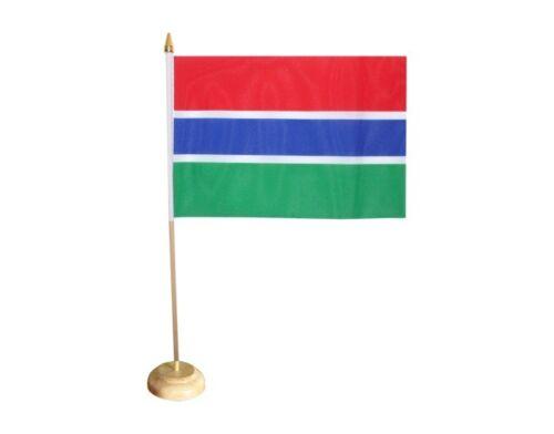Tischflagge Gambia gambische Tischfahne 15x22cm