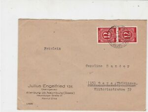 Germany 1946 Allied Occupation to Thuringia Naumburg Cancel Stamps Cover rf23206