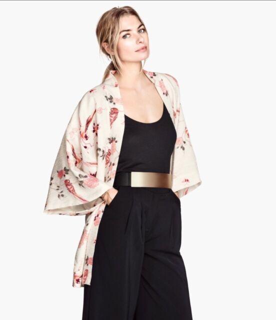 H&m Floral  summer beach holiday  Oriental kaftan   Kimono  Size 14-16