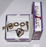 Disney Camp Rock Black & Gold Charm Bracelet Watch