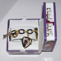 Disney Camp Rock Black & Gold Charm Bracelet Watch